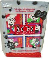 Disney 101 Dalmatians 30 Hallmark Valentines  Non Mailable Envelopes  new  USA