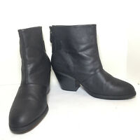 Simply Vera Vera Wang Women's Black High Heel Western Ankle Boots Size 9 M