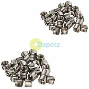 50 Piece Helicoil Type Threaded Inserts M8 X 1.25 mm - Thread Repair Coils