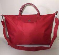 Longchamp Le Pliage Neo Large Red Hobo Handbag 1630