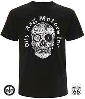 Oily Rag Co. 'Motors Inc' T-Shirt - Ford, Chevy, Mopar, Hot Rod, Sugar Skull