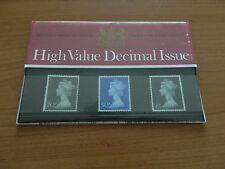 1971 HIGH VALUE DECIMAL ISSUE 20p,50p,£1 PRESENTATION PACK (No38) IN MINT COND