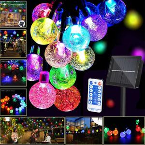 Waterproof solar globe fairy christmas Tree string lights   Outdoor Garden Party