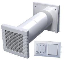 Dezentrale Wohnraumlüftung mit Wärmerückgewinnung, Einrohr-System