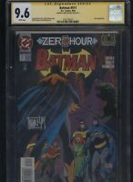 Batman #511 CGC 9.6 SS Mike Manley ZERO HOUR 1994