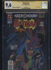 Batman #511 CGC 9.6 SS Mike Manley ZERO HOUR 1994