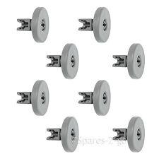 8 x Basket Rack Wheel Large Lower Wheels for Kenwood Dishwasher 40mm