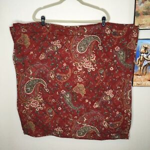 Pottery Barn 30x30 Euro Sham Set Of 2 Red Paisley Quilted Floral