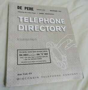 1965 Green Bay De Pere Telephone Directory Packers Players Starr Wood Nitschke