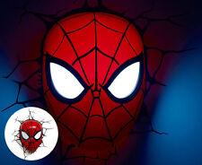 3d FX Deco Wall Room DreamMaster Marvel Avengers Spiderman Mask LED Night Light