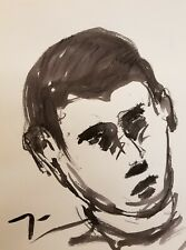 "JOSE TRUJILLO - Contemporary ABSTRACT EXPRESSIONIST INK WASH 18X24"" Portrait NEW"