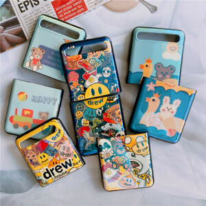 Cartoons Blu Ray Mirror Camera Stand Phone Case Cover For Samsung Galaxy Z Flip