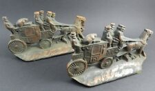 W. H. Howell Co. Cast Iron Stagecoach Bookends