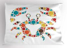 Crabs Pillow Sham Decorative Pillowcase 3 Sizes for Bedroom Decor