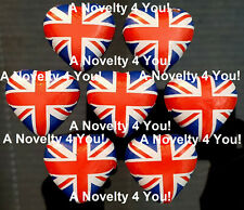 Great Britain Flag Caramel Filled Milk Chocolate Hearts Wedding Union Jack