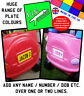 N.E.stickers personalised REAR number plate TO FIT Little Tikes Cozy Coupe car