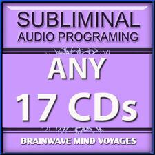 ANY 17 CDs POWERFUL MIND ALTERING AUDIO Subliminal Program ADVANCED BRAIN POWER