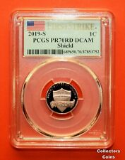 """2019 """"S"""" PCGS 70 RD DCAM Proof First Strike Lincoln Cent"""