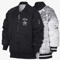 Nike Jordan City of Flight Big Kids Jacket Reversible Bomber 954735-023 New S