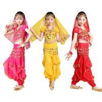 Girls Kids Belly Dance Top Harem Pants Suit Children Bollywood Carnival Costume