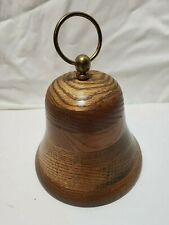 Vintage Wooden Bell Music Box Buckeye Wood Products Made in USA