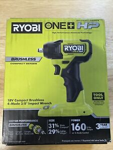 "New! Ryobi ONE+ HP 18V Compact 4 Mode 3/8"" Impact Wrench - PSBiW01B"