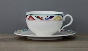 Villeroy & Boch V&B Indian Look Teetasse Tasse mit Untertasse Unterteller