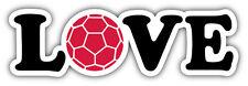 Love Soccer Car Bumper Sticker Decal 8'' x 2''