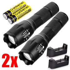Ultrafire Tactical 150000LM T6 Power LED Zoomable Flashlight + 18650&Charger USA