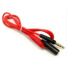 3.5mm 4Pole Male to Female Earphone Headphone Audio Cable Adapter Mic Extension.