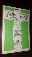 PARIS ROME - Croquis d'un pélerin - P. Guimezanes 1950