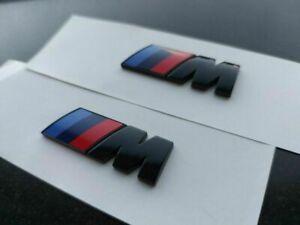 2PCS BMW ///M SPORT EMBLEM LOGO BADGE M-TECH Chrome Universal Fit Side