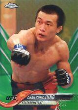 2018 TOPPS UFC CHROME GREEN REFRACTOR #/99 KOREAN ZOMBIE CHAN SUNG JUNG #94