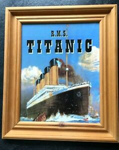 Picture of 'RMS Titanic' in solid wood frame