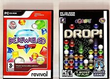 BEJEWELED & DROP!. 2 EXCELLENT PUZZLE/GEM/DROP GAMES FOR THE PC + FREE GAME!!