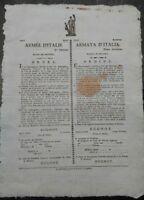 1797 MODENA: PROCLAMA SU ALLOGGIO A MILITARI DELL'ARMATA D'ITALIA DI NAPOLEONE