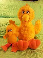 "Lot of 2 Sesame Street BIG BIRD Plush 14"" Gund & 7"" Applause   Free Shipping"