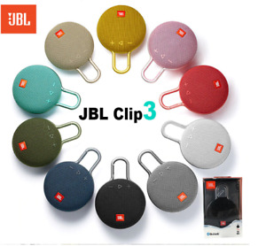 JBL Clip 3 Bluetooth Speaker Rechargeable IPX7 Waterproof Portable Wireless New
