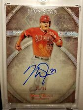 2014 Topps Five Star Mike Trout Rainbow Parallel On card Auto #25/25!! Angles !!
