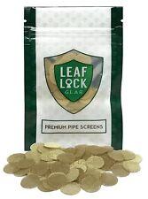 """100 Leaf Lock Gear Premium Brass Tobacco Pipe Screen Filters - 1/2"""" (0.5)"""