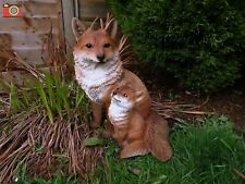 More details for sitting fox & cub. vivid arts real life range. lovely home or garden ornament.