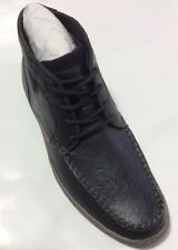 Men's Stacy Adams Navy Genuine Leather Boots Size 8.5D EUR 42 New