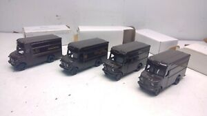 """Lot 4 Die-Cast UPS Delivery Truck Lot for """"S"""" Scale Model Railroad Diorama(S50)"""