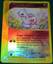 Reverse Holo Foil Mew # 55/165 E-Set: Expedition Pokemon Trading Cards Rare HP