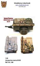 1/35 RESINA M100 trailer load ESTIBA accesorios tanque REMOLQUE italeri tamiya