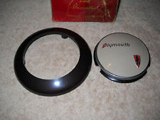 NOS Mopar 1941 Plymouth Horn Button Ornament and Retainer w/o Horn Ring Nice!