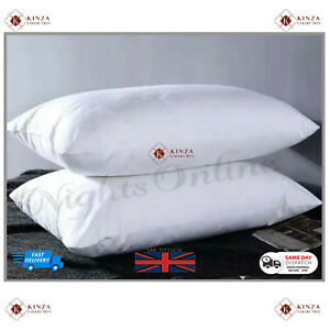 2X 1000gsm Pillow Firm Support Extra Filled Anti Allergenic Hotel Quality Pillow