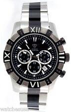 Aqua Master Chronometer Black Dial Men's Duo Black and Silver Tone Watch W#333