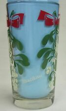 Mistletoe Peanut Butter Glass Glasses Drinking Kitchen Mauzy 72-1