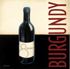 Marco Fabiano: Vin moderne II Fertig-Bild 45x45 Wandbild Wein Bar Drink Küche